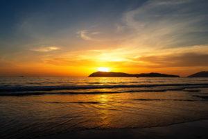 Sonnenuntergang am Tengah Beach auf Langkawi