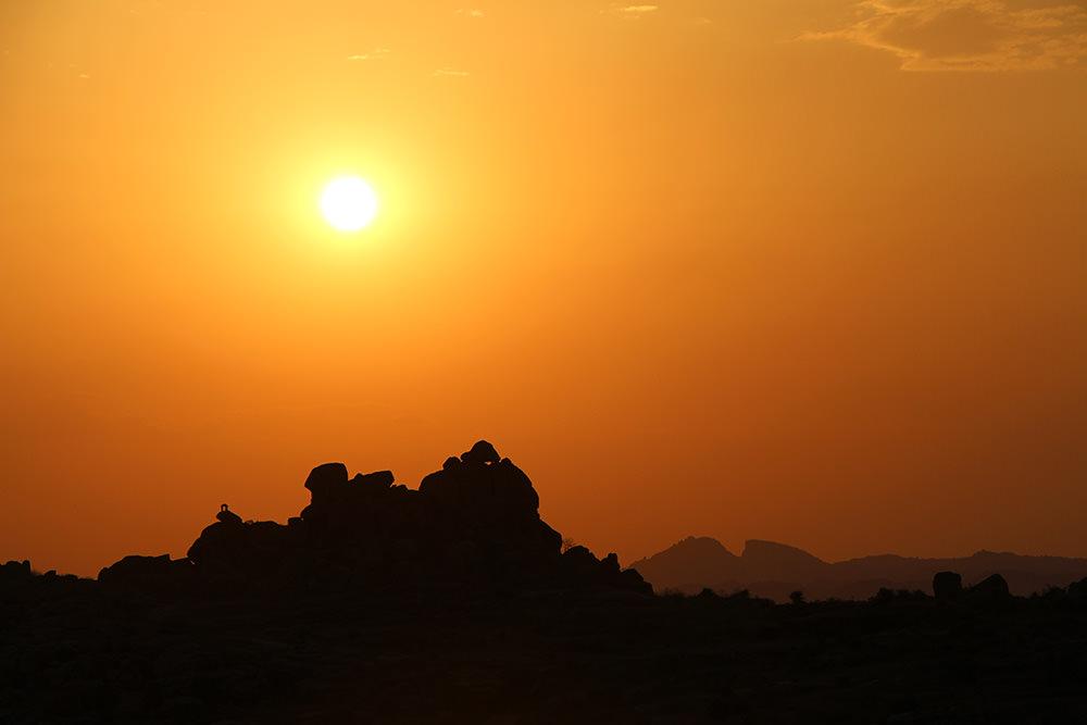 Sonnenuntergang Hampi