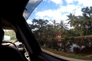 Taxifahrt zum Hostel