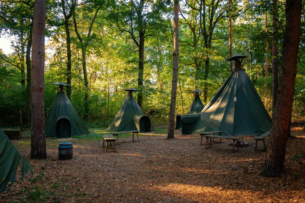 Zelte im Tipi-Dorf vom Wolfcenter Dörverden