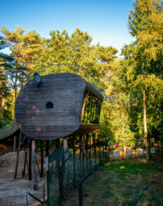Luxus-Baumhaus Tree Inn im Wolfcenter Dörverden